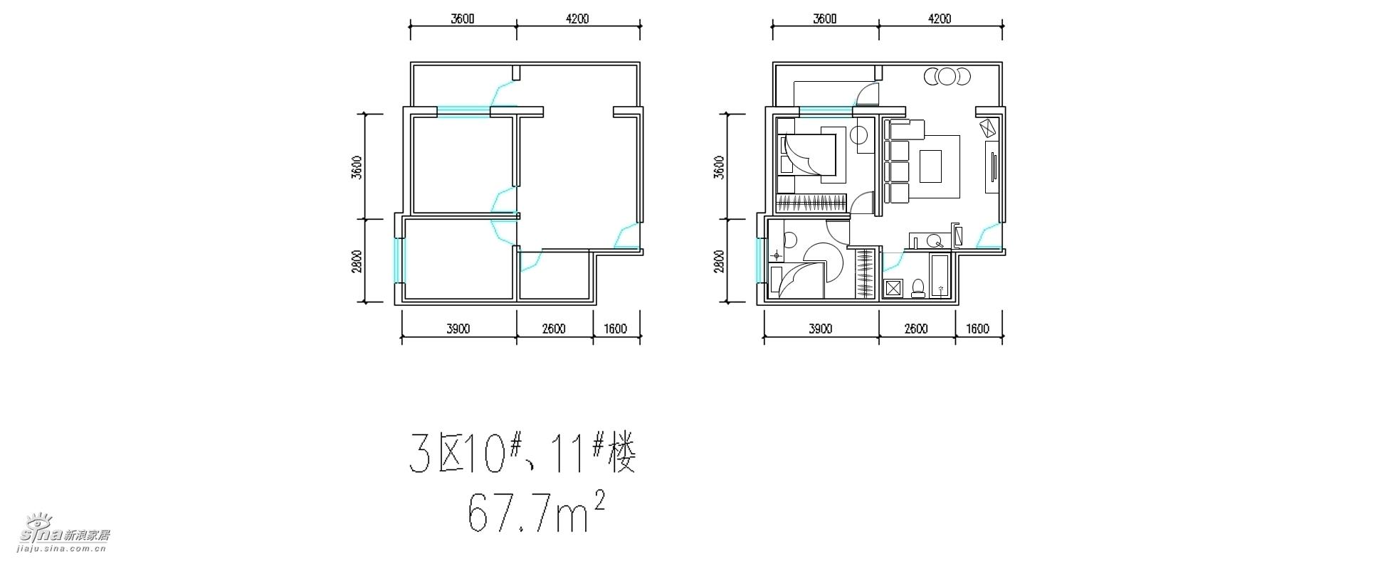 简约 二居 户型图图片来自用户2737786973在金鼎*世纪城91的分享