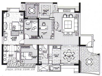 简约 一居 户型图图片来自用户2737735823在馨城38的分享
