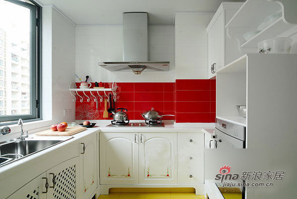 简约 二居 厨房图片来自用户2739378857在8万营造90平2居韩式田园美宅66的分享