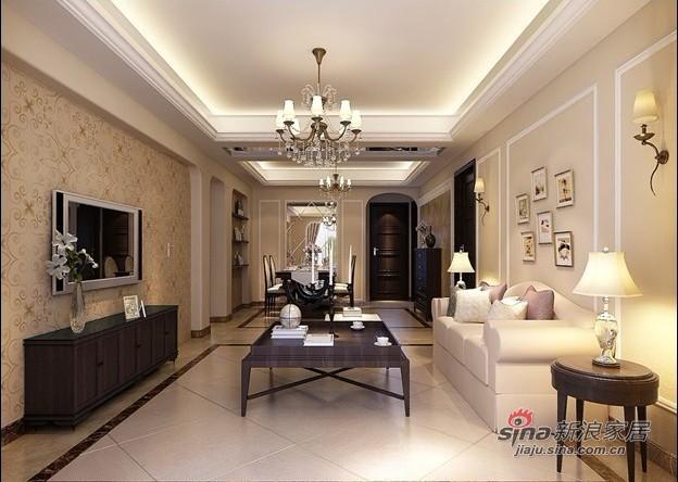 欧式 三居 客厅图片来自用户2746948411在10万打造180平米简欧二手房华丽家居15的分享