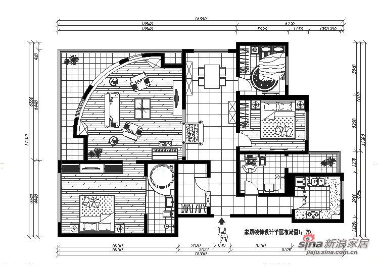 简约 三居 客厅图片来自用户2738820801在140平错层简约狂想曲89的分享