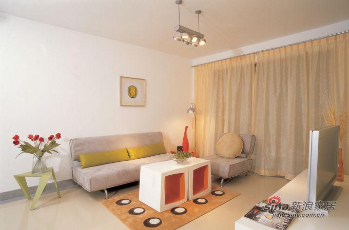 现代 二居 客厅图片来自用户1907684993在2.3万装85平现代2居简约家93的分享