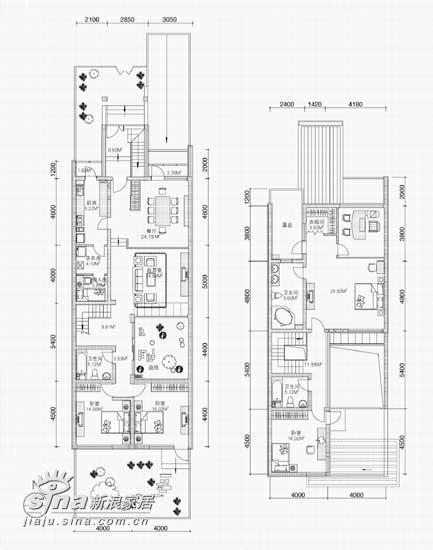 欧式 跃层 户型图图片来自用户2746869241在20万元装修240平米公寓-欧式王妃享受66的分享