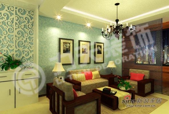 混搭 三居 客厅图片来自阳光力天装饰在90平三室绝对混搭74的分享