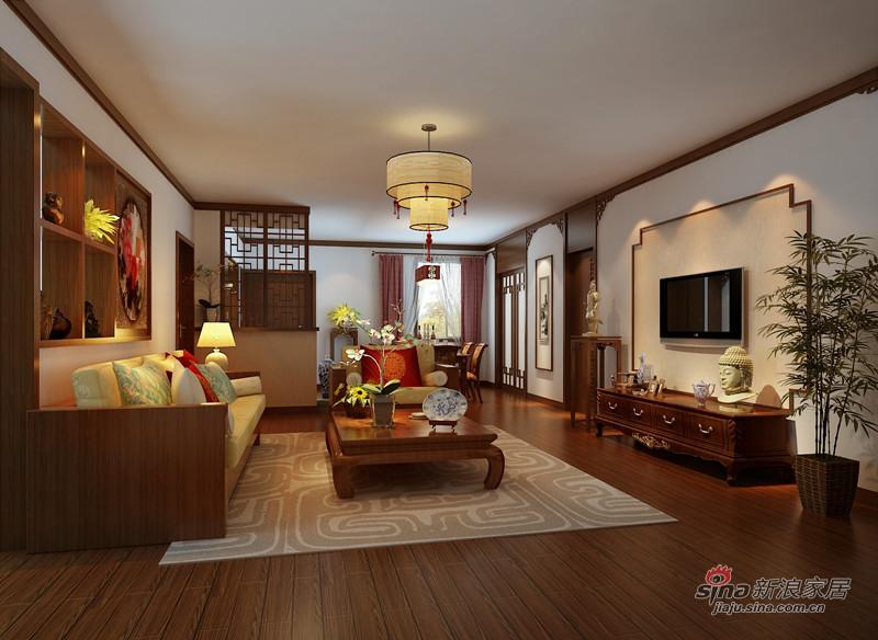 中式 四居 客厅图片来自用户1907661335在10万巧装160平四居室中式大气风格68的分享
