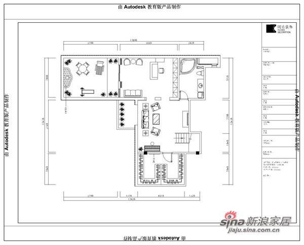 龙山华府欧美风情复式美宅设计案例-平面图