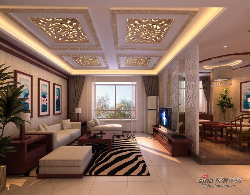 简约 一居 客厅图片来自用户2737950087在15万装260平悠然新中式4居38的分享