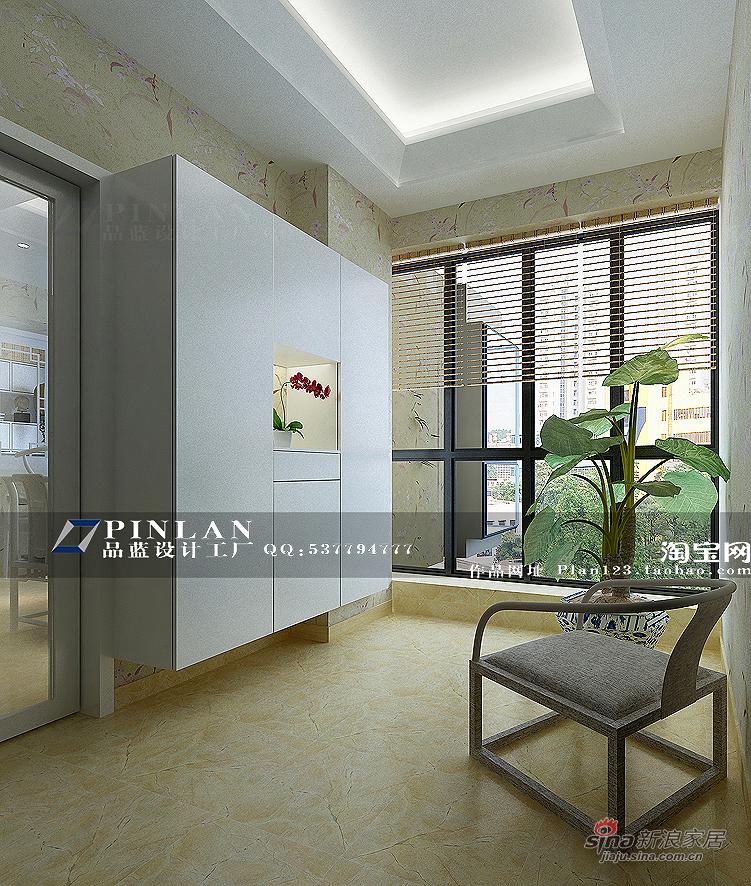新中式玄关鞋柜设计图片