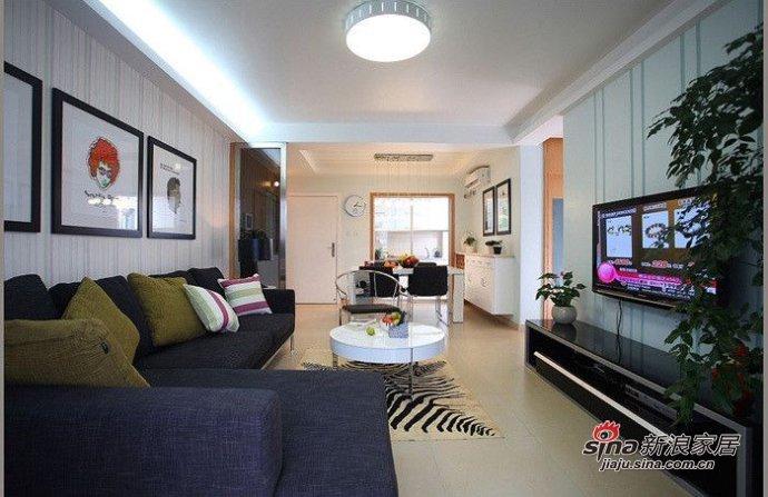 简约 三居 客厅图片来自用户2556216825在5.9万打造108平现代风格时尚简约三居49的分享
