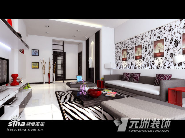 简约 三居 客厅图片来自用户2738829145在威尔夏大道11的分享