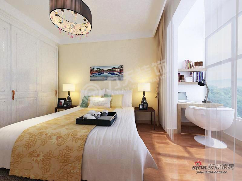 简约 二居 卧室图片来自阳光力天装饰在天房郦景-两室两厅一厨一卫-现代简约风格51的分享