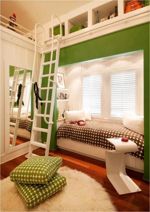 卧室 绿色 床 储物图片来自用户2771736967在Jia的分享