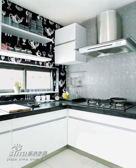 简约 三居 厨房图片来自用户2739081033在黑白-时尚风潮之永恒主题 引人注目79的分享