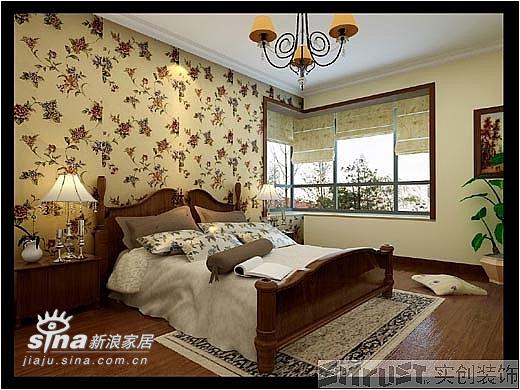 欧式 三居 卧室图片来自用户2746953981在实创装饰东方夏威夷99的分享