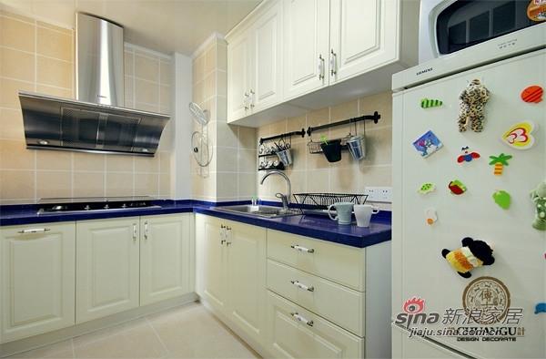 混搭 三居 厨房图片来自用户1907691673在12万90平撞色田园实景混搭款三居47的分享