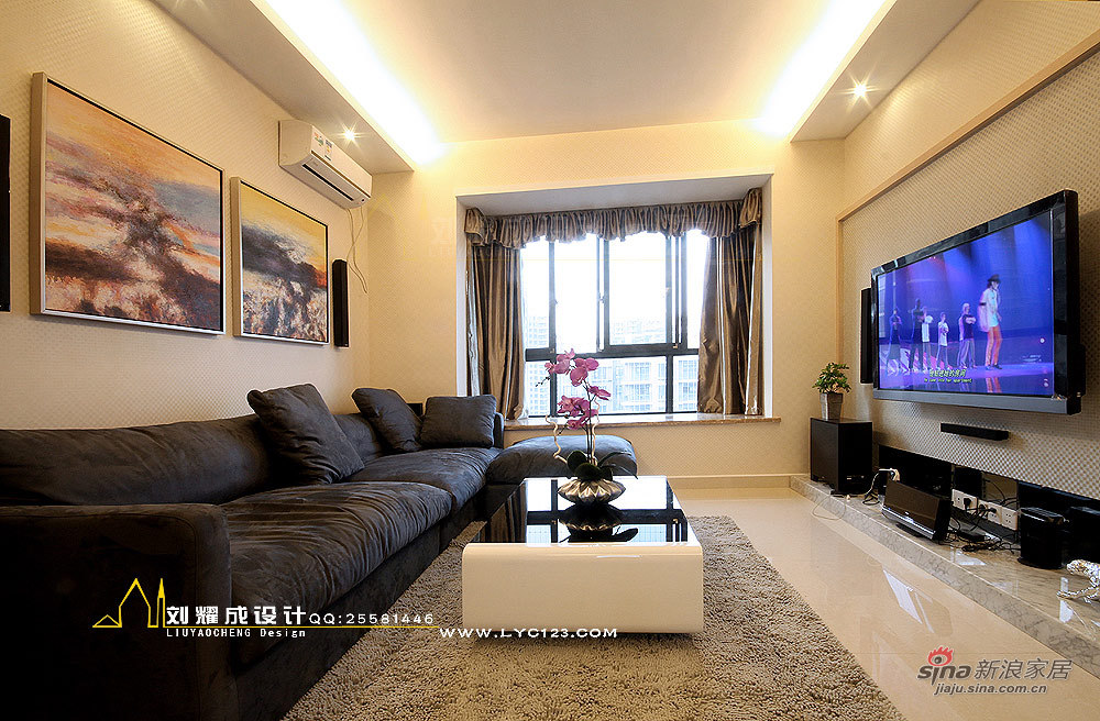 简约 三居 客厅图片来自用户2739153147在【高清】10万打造90平米质感优雅的呼吸空间62的分享