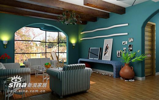 欧式 三居 客厅图片来自用户2746948411在蓝色浪漫——地中海风格14的分享