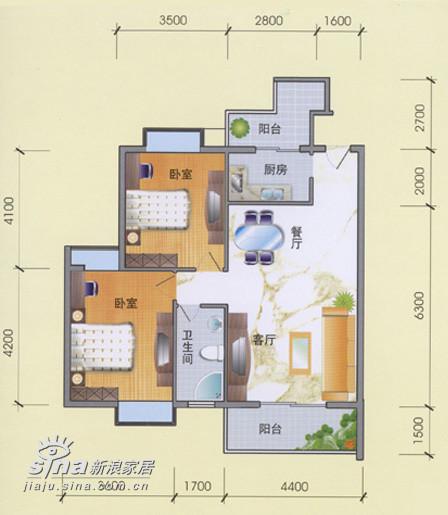简约 二居 户型图图片来自用户2738829145在滨湖名苑235的分享