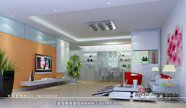 简约 三居 客厅图片来自用户2737759857在色彩点亮时尚41的分享