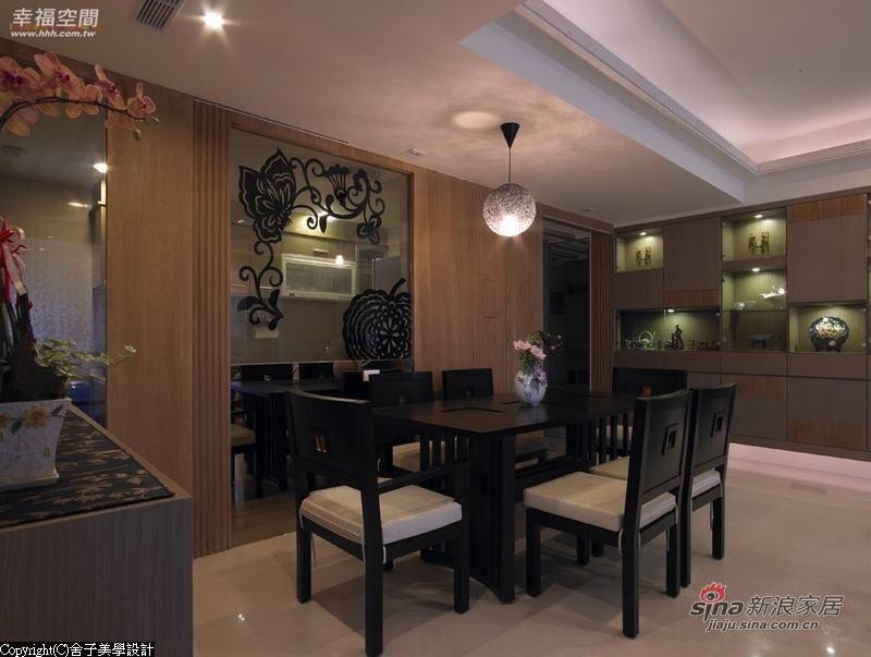 中式 二居 餐厅图片来自幸福空间在【高清】108.9平刻画现代中式禅意居69的分享