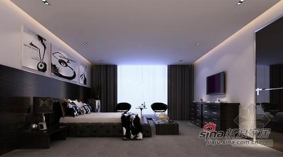 简约 别墅 卧室图片来自用户2557010253在黑白灰个性简约风别墅10的分享