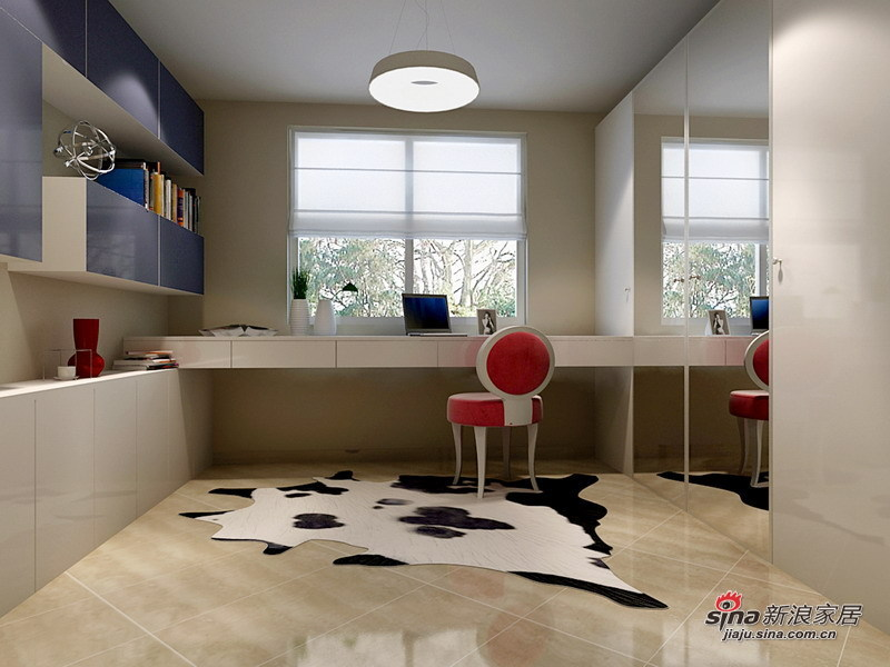 简约 二居 书房图片来自用户2745807237在4.5万装修北空宿舍93㎡简约2居室22的分享