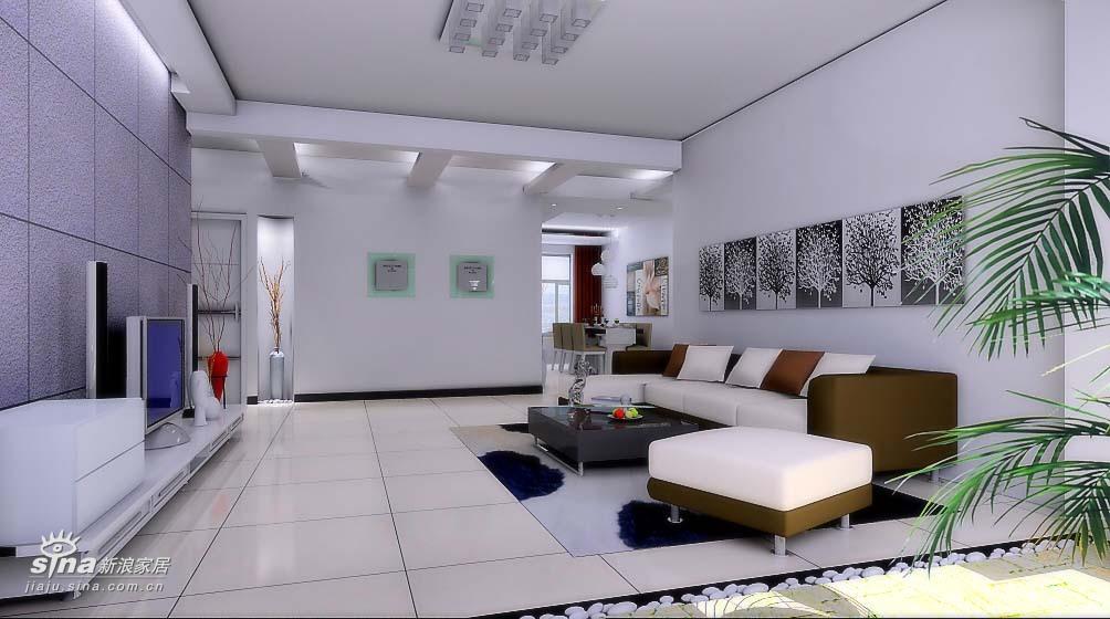 简约 二居 客厅图片来自用户2737735823在现代简约轻舟装饰90的分享