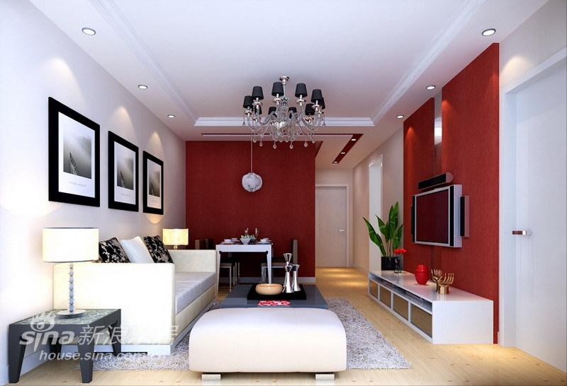 简约 二居 客厅图片来自用户2557010253在激情似火简约风格两居48的分享