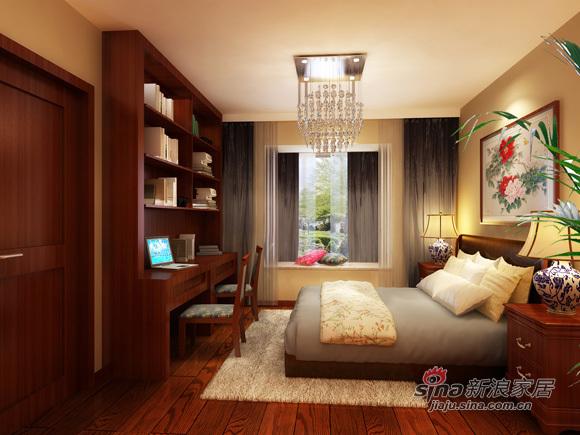 中式 二居 书房图片来自用户1907658205在5.4万打造80平新中式风情53的分享