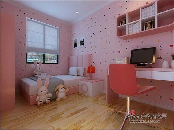 简约 二居 儿童房图片来自用户2737786973在5万装鸿坤理想城80平2居家44的分享
