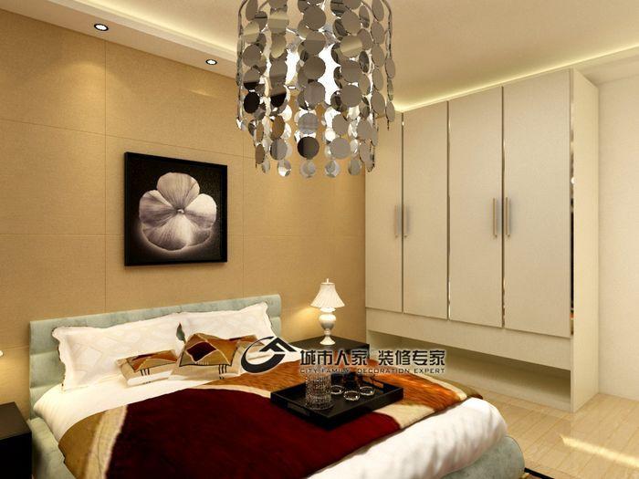 简约 复式 卧室图片来自城市人家犀犀在60平米简约复式20的分享