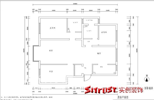 简约 三居 户型图图片来自用户2738845145在北京益丰苑小区45的分享