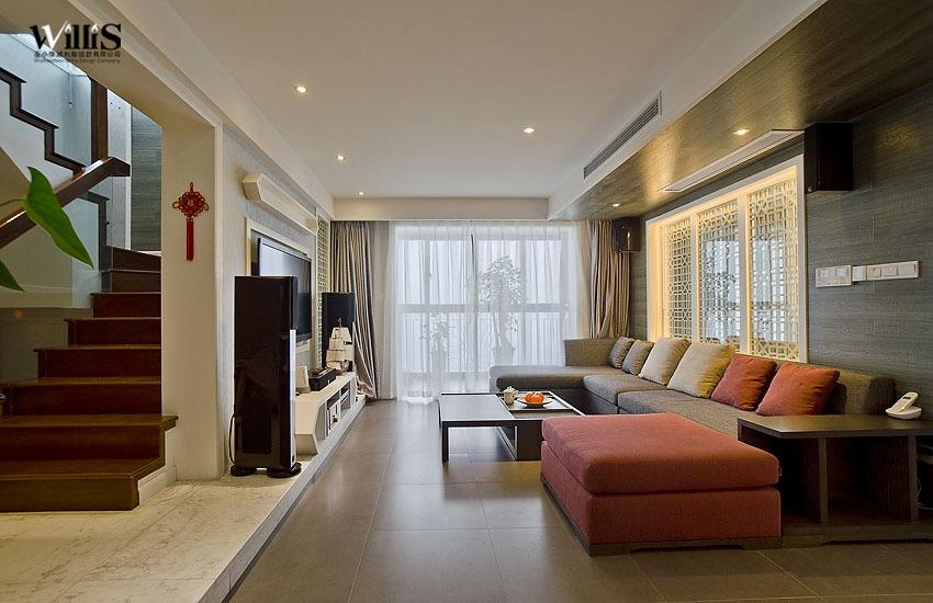 混搭 复式 客厅图片来自用户1907689327在含蓄中式天人合一荷塘月色62的分享