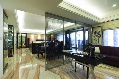 欧式 三居 书房图片来自用户2746948411在11.3万铸造简欧奢华三居室35的分享
