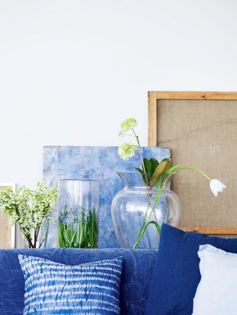蓝色,应用于家居之中,总是给人安静、清澈、浪漫的感觉。