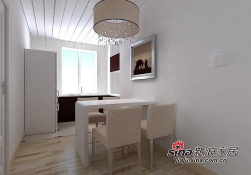 简约 一居 餐厅图片来自用户2558728947在55㎡极致简约一居室设计53的分享