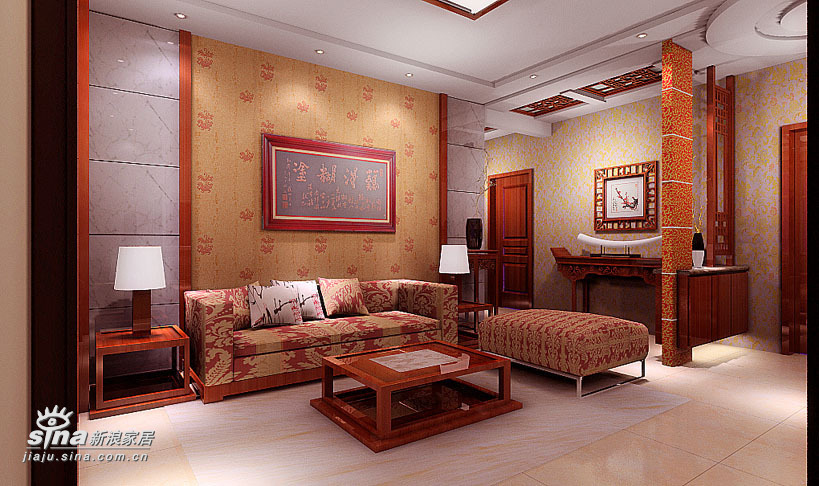 中式 三居 客厅图片来自用户2748509701在太原市简中风格87的分享