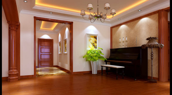 混搭风格--玄关+琴房