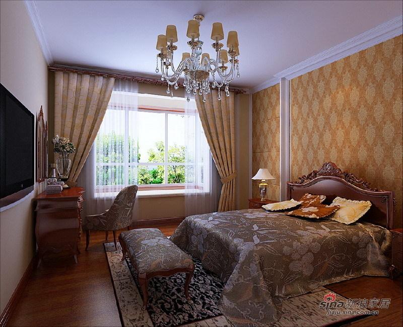 欧式 三居 卧室图片来自用户2745758987在120平古典欧式风格旧房改造29的分享