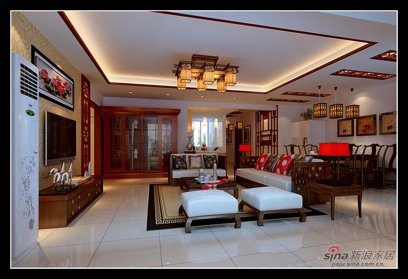 中式 三居 客厅图片来自用户1907696363在10万演绎完美121平中式3居17的分享