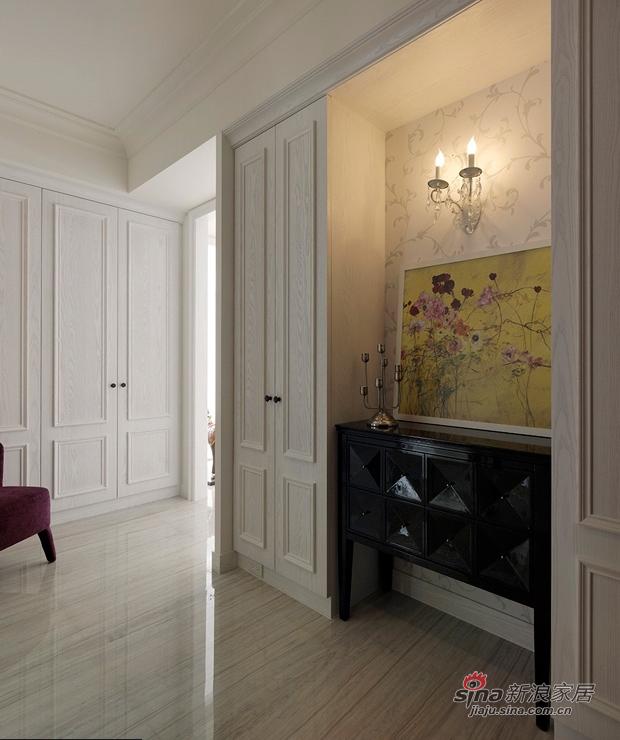 美式 三居 玄关图片来自佰辰生活装饰在9万打造170平纯白美式大气家64的分享