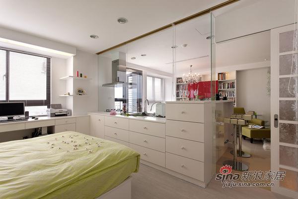 简约 二居 卧室图片来自用户2557010253在实景95㎡温馨简约风格阳光美居29的分享
