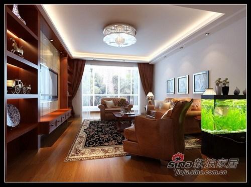 中式 三居 客厅图片来自用户1907662981在8.7万打造海富漫香林148平中式三居52的分享