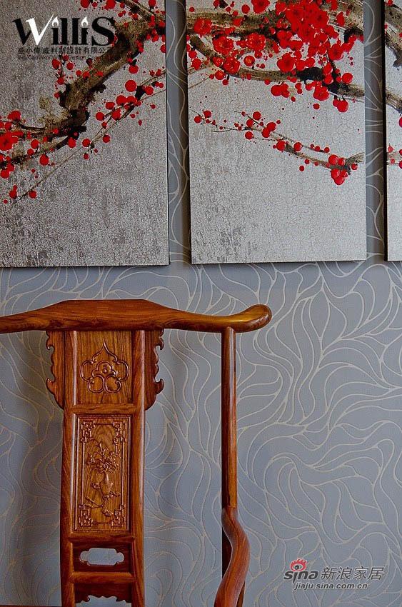 中式 跃层 客厅图片来自用户1907658205在250平新中式风 演绎不一样的《荷塘月色》12的分享