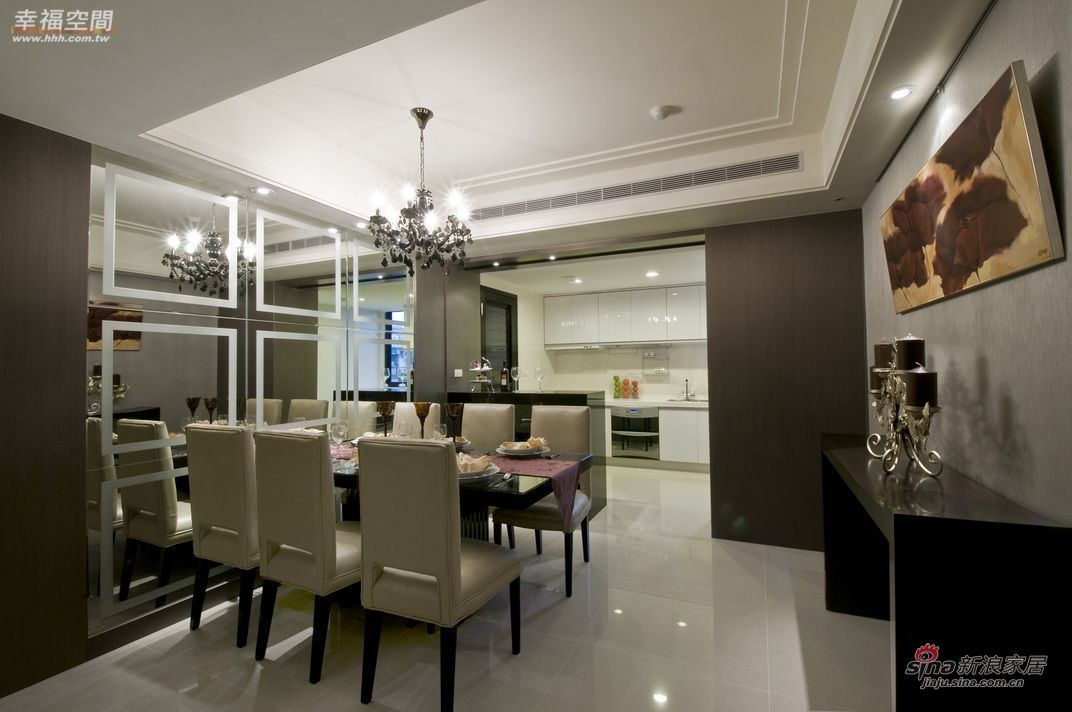 简约 四居 餐厅图片来自幸福空间在264平三代同堂大气4居爱家35的分享