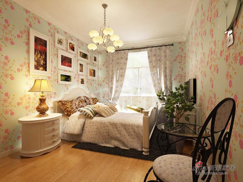 田园 二居 卧室图片来自阳光力天装饰在团结东里--田园风格16的分享