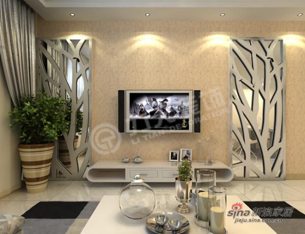 简约 二居 客厅图片来自阳光力天装饰在远洋风景-2室2厅1卫-现代简约85的分享