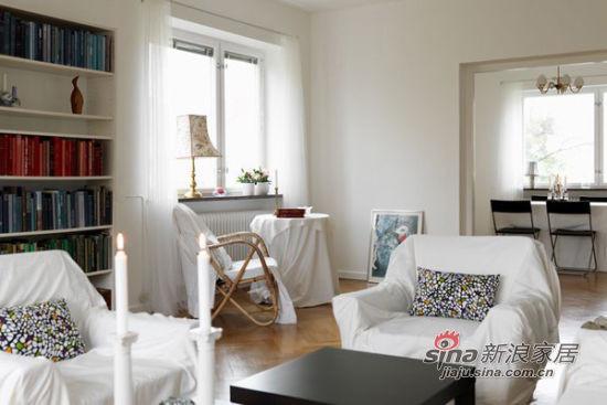 北欧 二居 客厅图片来自佰辰生活装饰在简约明亮96平米小清新公寓71的分享