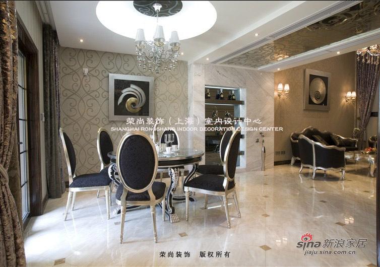 欧式 别墅 餐厅图片来自用户2746948411在一百万全包简欧风豪华别墅21的分享