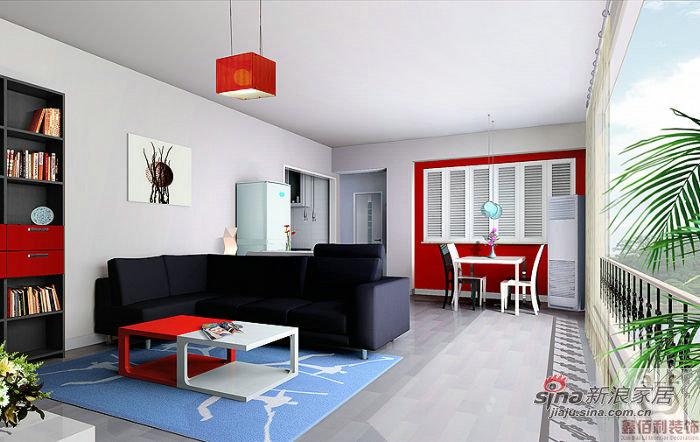简约 三居 客厅图片来自用户2557010253在4万装124平炫彩时尚三居室10的分享